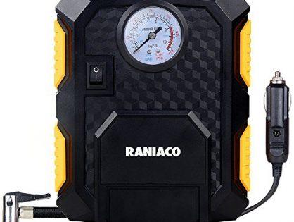 Raniaco 12V DC 150PSI Portable Electric Auto Air Compressor Pump and Car Tire Inflator Black