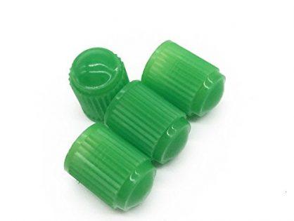 Godeson Green Plastic Valve Cap For kinds of cars, trucks, bikes Scharder Valve.Hard Valve Cap Help Prevent Air Leakage