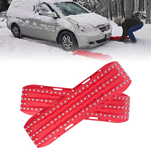 Firebug Recovery Track, Recovery Traction Mats for Off-Road Mud, Sand, Snow Vehicle Extraction Set of 2, Red