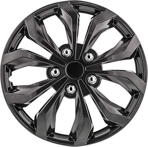 Pilot Automotive WH555-17GM-B Gunmetal Grey 17 Inch Spyder Performance 17 in. Wheel Covers, 4