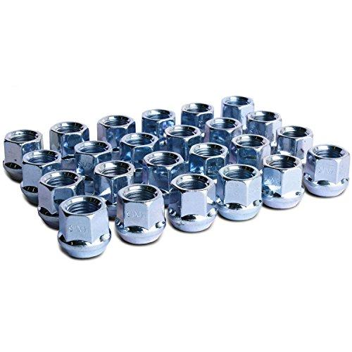 WheelGuard 1109, Zinc Finish, Open-end Acorn Bulge Lug Nuts, M14x1.5 Thread, 3/4 Hex Pack of 24