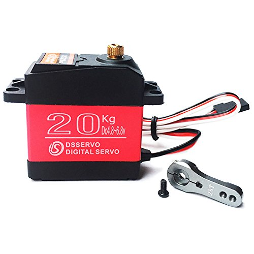 ANNIMOS 20KG Digital Servo High Torque Full Metal Gear Waterproof for RC Model DIY, DS3218MG,Control Angle 270°