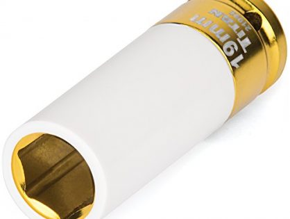 "Titan Tools 21092 19mm 1/2"" Drive Non-Marring Deep Lug Nut Socket"
