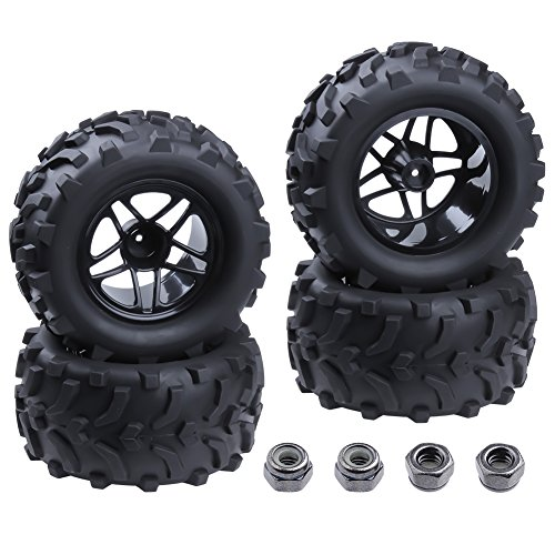 "Hobbypark 4-Pack RC Truck 2.8"" Tires & Wheels Rims with Foam Inserts 12mm Hex Hub for 1/10 Electric / Nitro Power Off Road Monster"