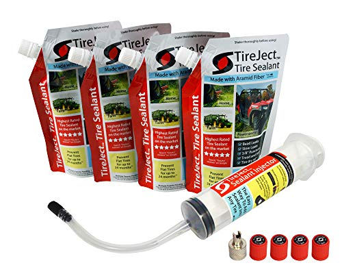 TireJect Tire Sealant Kit - Fix and Prevent Flat Tires 40oz