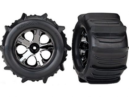 Traxxas 4175 Stampede Paddle Tires and Wheels Pre-Glued and Mounted Pair