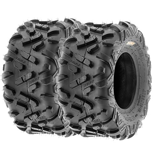 Set of 2 SunF Power.II 18x9.5-8 ATV UTV Off-Road Tires, All-Terrain, 6 PR, Tubeless A051