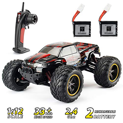 Theefun RC Car 33+ mph High Speed Remote Control Car 1: 12 Electric Vehicle Off Road Monster Truck with Rechargeable Battery for Kids