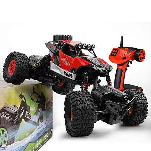 Gizmovine RC Cars 4WD Rock Crawler Large Size Boys Remote Control Cars and Trucks 2.4Ghz Transformer Toy Electronic Monster Truck R/C Off Road for Kids, 2019 Update Version Red