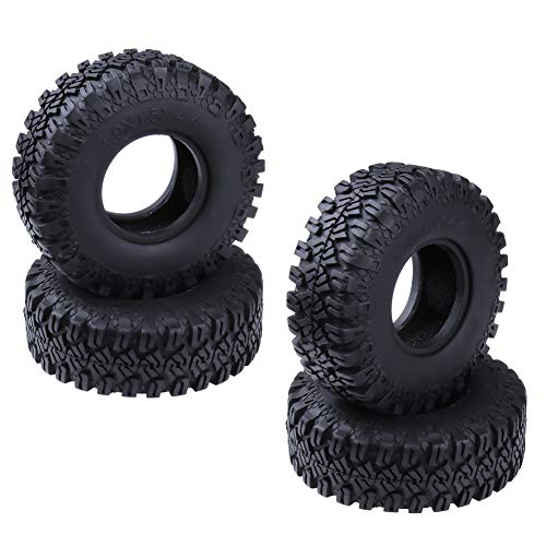 "Hobbypark 1.9"" Tires All Terrain Tyres with Foam Inserts for 1/10 Scale RC Rock Crawler Truck Off Road Replacement 4-Pack Type 2"