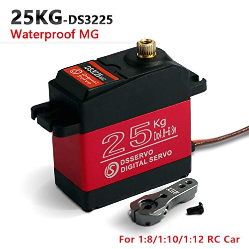 ZOSKAY Waterproof High Torque Metal Gear Standard Digital Servo 25KG/0.13S 6.8V for 1/8 1/10 RC CarsControl Angle 180
