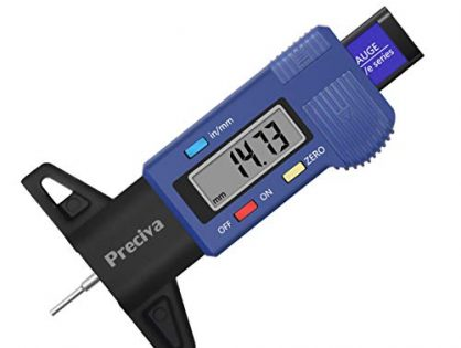 Preciva Tire Tread Depth Gauge, LCD Digital Tire Tread Depth Gauge Tool 0-25 mm