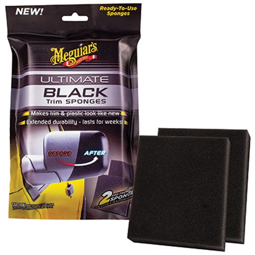 Meguiar's G15800 Ultimate Black Trim Sponge, Pack of 2
