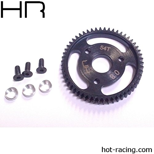 Hot Racing Steel Spur Gear 54t 0.8 Mod, Silver: Traxxas, HRASJT254
