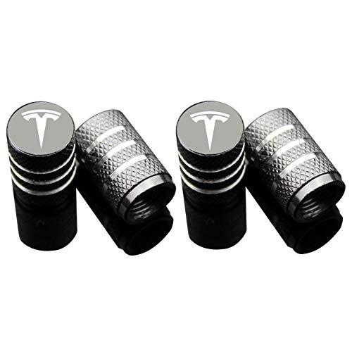 EVPRO Valve Stem Caps 4 Pack Gray Fit for Tesla Model 3 S X Tire Decorative Accessories