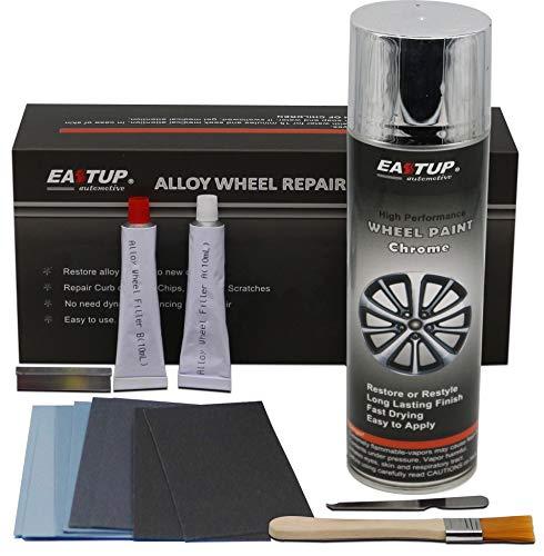 Eastup 80005 Alloy Wheel Repair Kit Alloy Rim Scrapes Scratches Remover Color: Chrome