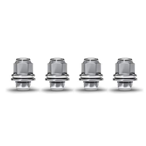 White Knight 5307 Chrome M12x1.50 Toyota Tacoma OEM Factory Style Mag Lug Nut with Washer, 4 Pack