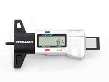 STEELMAN 60664 Digital Tire Tread Depth Gauge, 3 Modes - Fractional Inch, Decimal Inch, and Millimeter, 0-1 Inch