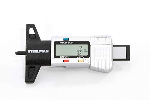 STEELMAN 60664 Digital Tire Tread Depth Gauge, 3 Modes - Fractional Inch, Decimal Inch, and Millimeter, 0-1 Inch
