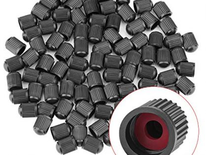 Awpeye Tire Valve Stem Caps 150 Pack Black with Sealing Ring, General for Car, Motorcycles, Bicycles and Trolleys