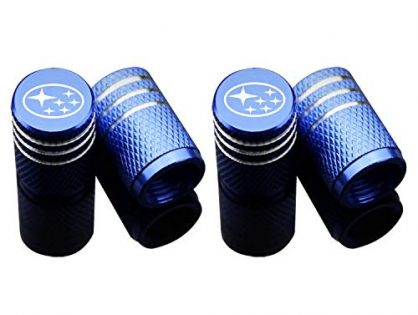 Car Tire Air Valve Caps- Auto Wheel Tyre Dust Stems Cover with Logo Emblem Waterproof Dust-Proof Universal fit for Cars, SUV, Truck, Motorcycles 4 Pieces
