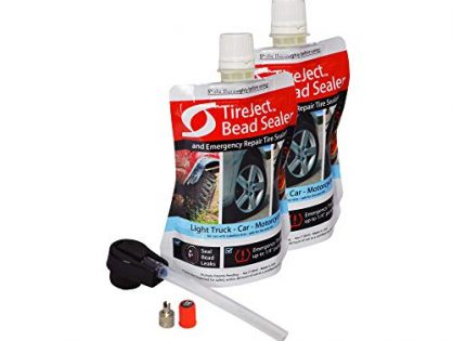 TireJect On-Road Automotive Tire Sealant Single Tire Repair Kit for Bead Leaks and Punctures Full-Size Truck, SUV