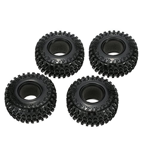 "Goolsky 4Pcs Austar 2.2"" 125mm 1 10 Scale Tires for 1:10 RC4WD D90 Axial SCX10 RC Rock Crawler"