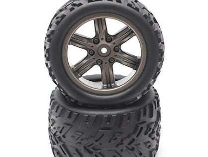 Hosim RC Car Wheel Rubber Tires Tyres 16-ZJ01 for 1:12 Scale Off-Road RC Car 9122 9123 Pack of 2