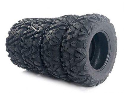 "Complete Set of 4 All Terrain ATV/UTV Tires 25"" 25x8-12 Front & 25x10-12 Rear 6PR"