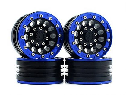 "4PCS RC Crawler Car 1:10 Metal Alloy 1.9"" BEADLOCK Wheel Rim for 1/10 Axial SCX10 Tamiya CC01 D90 D110 Wheel Hub Parts ... Blue"