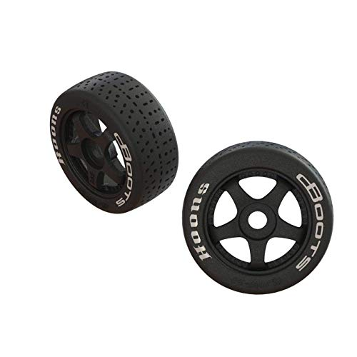 ARRMA Dboots Hoons 42/100 2.9 Belted Rc Tires with Foam Inserts, Mounted On 5-Spoke Black Wheels Set of 2: ARA55062