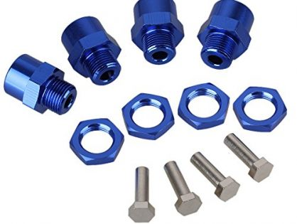 Mxfans Dark Blue 1/10 RC Model Car N10178 Aluminum Alloy 12mm -17mm Extension Wheel Hex Hub
