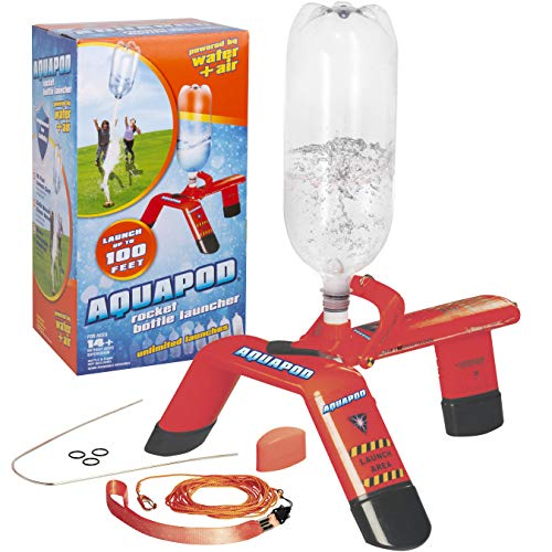 Aquapod Water Bottle Rocket Launcher - Launch 2 Liter Soda Bottles Up to 100 ft in the Air - The Cool Backyard Toy Gift that makes Outdoors Fun for Kids, Teenagers, and Adults