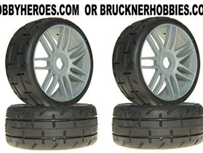 GRP GTK01-S4 GT T01 REVO S4 SoftMedium Belted Mounted Tires 4 1/18 Buggy 17mm