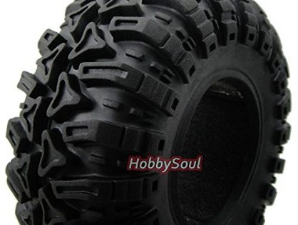 "hobbysoul 4pcs New RC Rock Crawler 2.2"" Tires Tyres W/ Foam for Beadlock 2.2"" Rims Wheel"