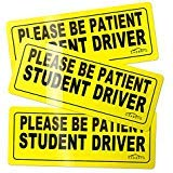 Set of 3 - CARBATO Student Driver Magnet Safety Sign Vehicle Bumper Magnet - Car Vehicle Reflective Sign Sticker Bumper for New Drivers