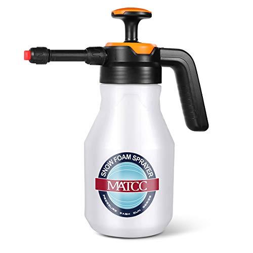 MATCC Pump Foaming Sprayer Hand Pressure Foam Sprayer Water Sprayer Easy Use Car Wheel Cleaner 50oz