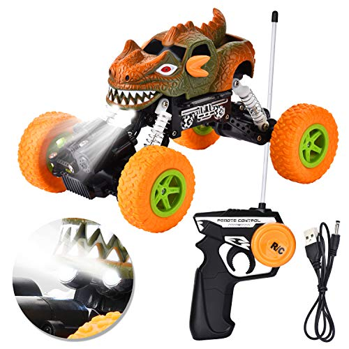 Remote Control Car 1/22 Rc Car Offroad Monster 4wd,30km/h 2.4Ghz Radio Controlled Car 4x4 Rechargeable Truck Four-wheel Drive Racing for KidYellow