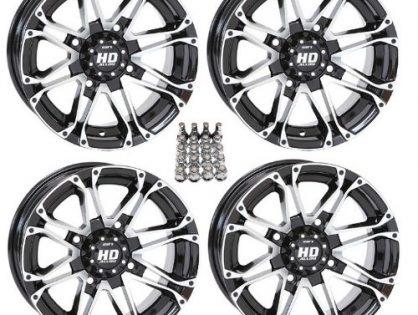 "STI HD3 ATV Wheels/Rims Machined 12"" Honda Foreman Rancher SRA Solid Axle 4"