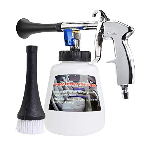YVO Car Cleaning Gun Interior Washing Air Blow Gun Automotive Air Pulse Cleaning Equipment High Pressure Foamaster Nozzle Sprayer with 1L Foam Bottle Plastic Nozzle with US Connector
