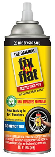 Fix-A-Flat S60410 Tire Inflator with Eco-Friendly Formula, 12 oz Cone Top