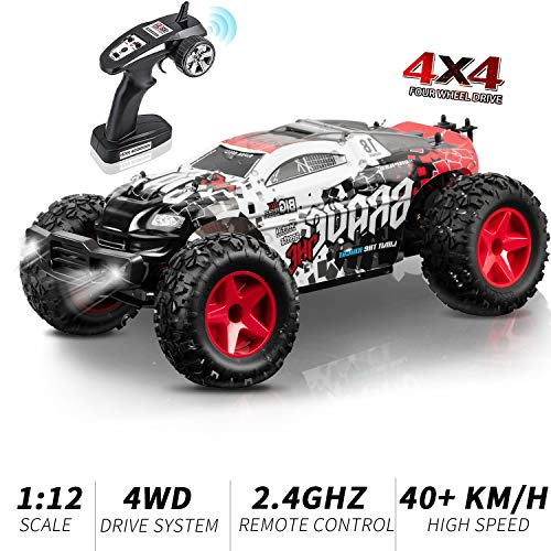 RC Car, KOOWHEEL 4WD Remote Control Car, 1:12 Off-Road Racing Truck 2.4Ghz 30MPH High Speed Racing Car, Great Gift for Boys Kids
