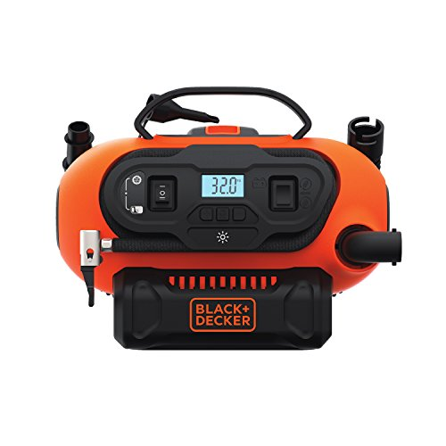BLACK+DECKER 20V MAX Multi-purpose Inflator, Cordless & Corded Power - Tool Only BDINF20C