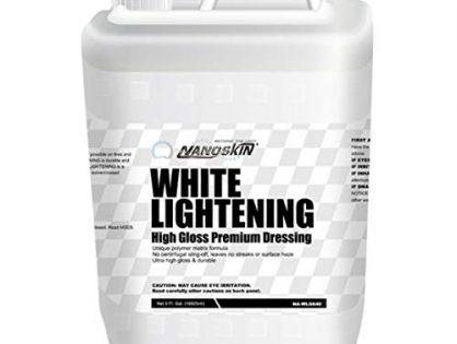 Nanoskin WHITE LIGHTENING High Gloss Premium Dressing NA-WLG640, 5 Gallons