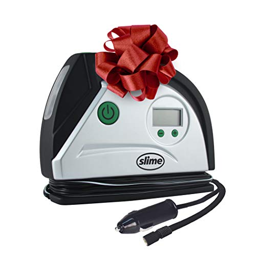 Slime 40051 Digital Tire Inflator 12-Volt, Compact and Portable Air Compressor Pump with Auto Shutoff Technology