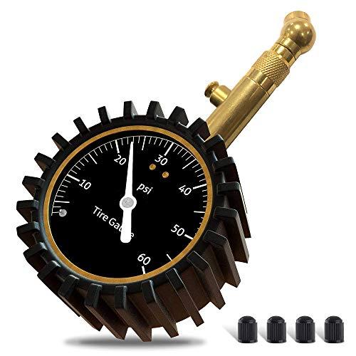 GLISTON Car Tire Pressure Gauge, Heavy Duty Tire Pressure Gauge, Tire Air Pressure Gauge for Car, Motorcycle, SUV, Bike Tires 0-60 PSI