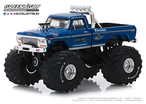 Greenlight 1/64 Kings of Crunch Series 4 - Bigfoot #1 1974 Ford F-250 Monster Truck Clean Version with 66-Inch Tires 49040A