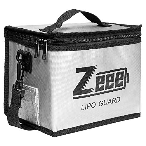 Zeee Lipo Safe Bag Fireproof Explosionproof Bag Large Capacity Lipo Battery Storage Guard Safe Pouch for Charge & Storage8.46 x 6.5 x 5.71 in