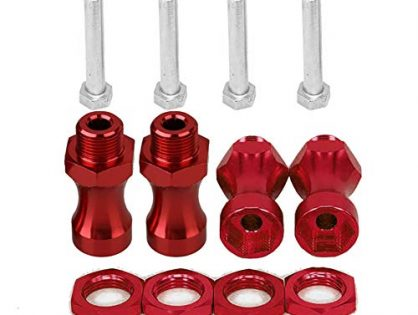 4Pcs 12mm to 17mm Wheel Hex Hub Adapter Extension Conversion for 1/10 RC Car and Upgrade 1/8 Tires