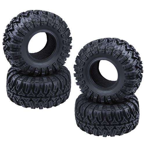 Hobbypark 125mm 2.2 inch Tires with Foam Inserts for 1/10 RC Rock Crawler Traxxas TRX4 Axial SCX10 RC4WD D90 D110 TF2 CC01 Parts 4-Pack